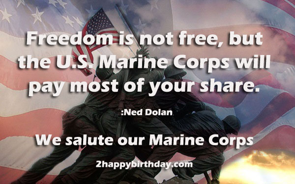 Marine Corps 241st Birthday Images Quotes Wishes 2HappyBirthday – Marine Corps Birthday Cards