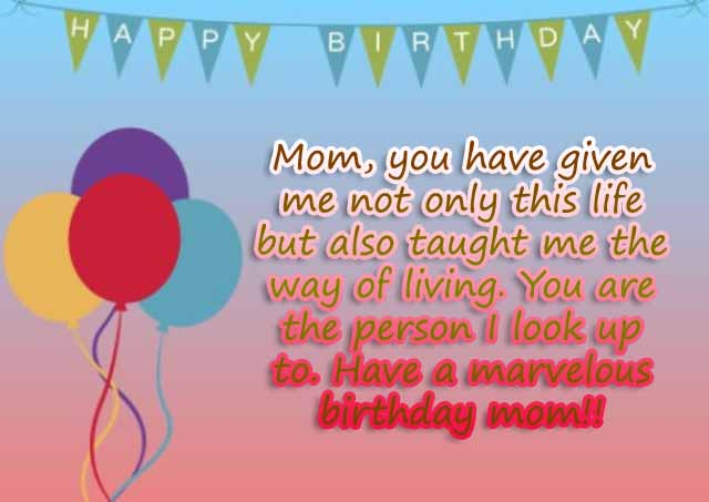 Happy Birthday Mom Quotes & Saying