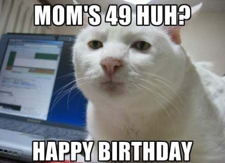 mom- birthday meme-cat