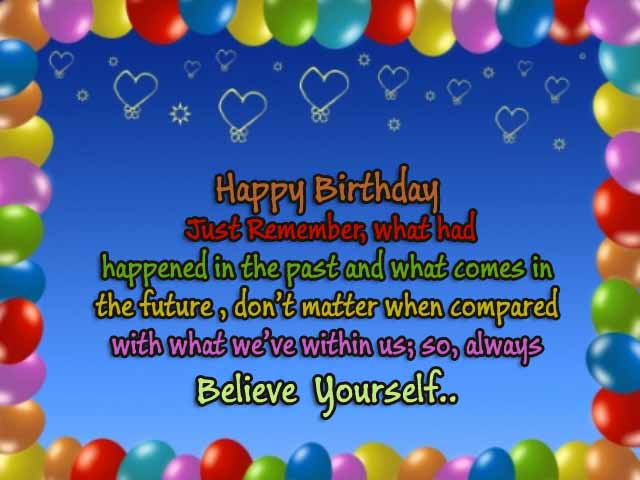 Happy Birthday Inspirational Messages for Friend,Sister & Brother