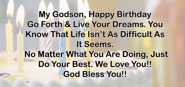 Godson Birthday Wishes