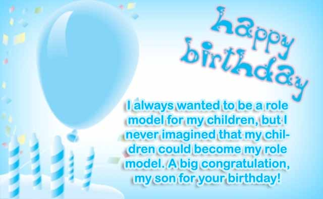 Happy Birthday to You My Son
