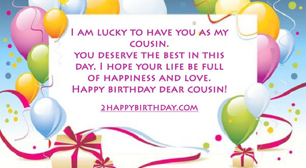 Happy Birthday Cousin Wishes and Quotes 2HappyBirthday – Birthday Greeting to a Cousin