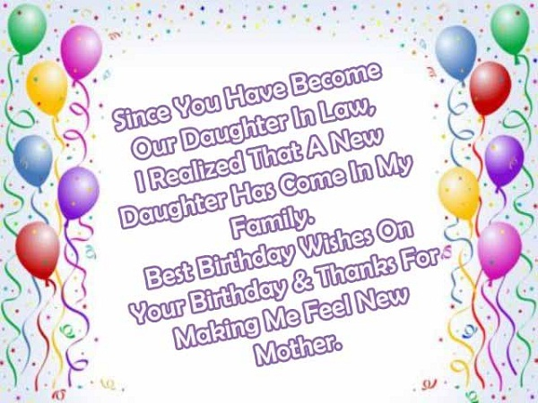 Happy Birthday Daughter-in-law Wishes & Quotes