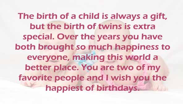 Twins Unique Birthday Wishes & Sayings