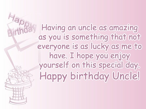 Wishing My Uncle a Happy Birthday
