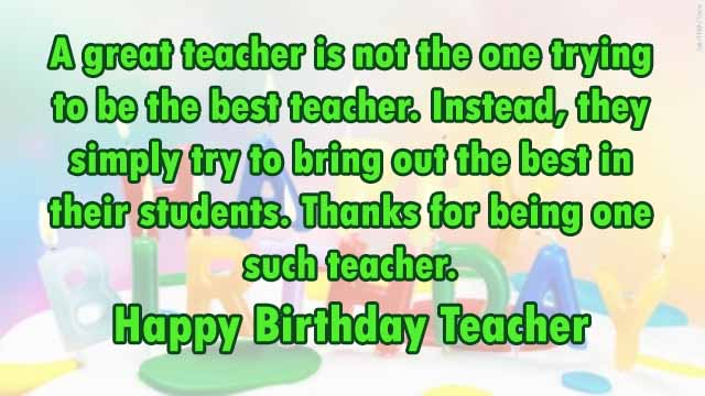 Birthday Wishes For Teacher & Professor