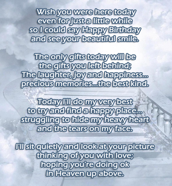 Wish You Were Here Mom Quotes: Happy Birthday In Heaven Wishes, Quotes & Images