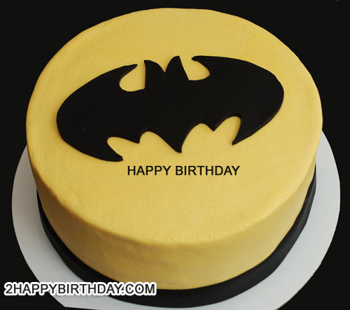 Write Name On Batman Themed Birthday Cake - 2HappyBirthday