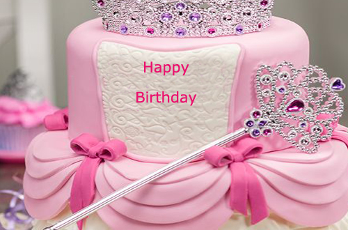 Happy Birthday Princess Cake for Girls With Name ...