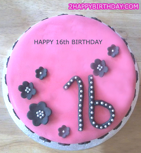 Sweet 16 Birthday Cake With Girl s Name - 2HappyBirthday