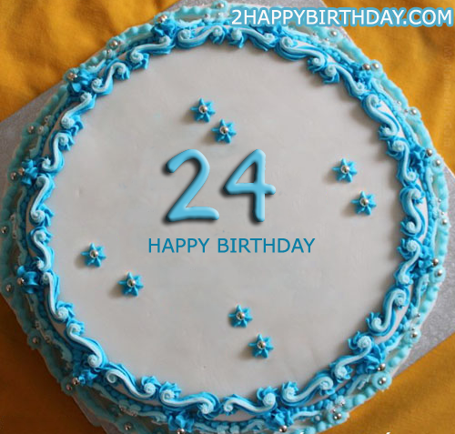 Birthday Cake Image Upload : Happy 24th Birthday Cake With Name - 2HappyBirthday