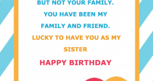 Sister Name on Birthday Cards