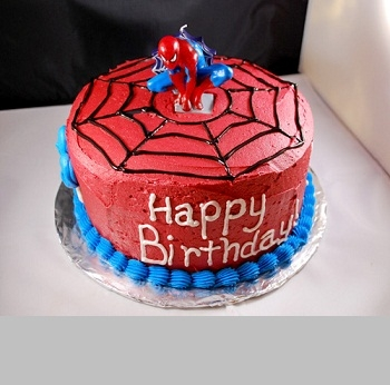 Happy Birthday Spiderman Cake with Name
