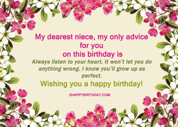 25 Happy Birthday Niece Sweet Quotes Messages 2happybirthday