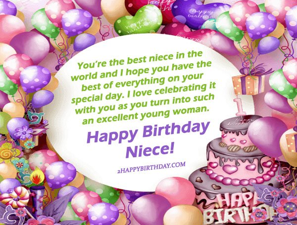 25 Happy Birthday Niece Sweet Quotes Messages 2HappyBirthday – Birthday Greetings Niece