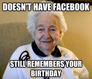 Facebook Birthday Meme