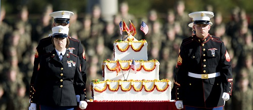 Maine-corps-Birthday-cake-cutting-ceremony-conventional-ball