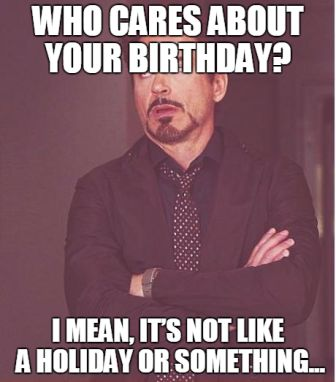 Robert Downey Jr. Happy Birthday Meme