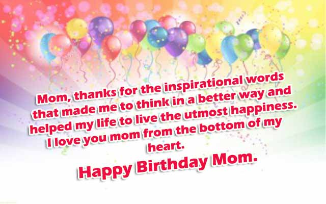 Happy Birthday Mom Image Quote