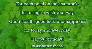 Irish Birthday Wishes Blessing