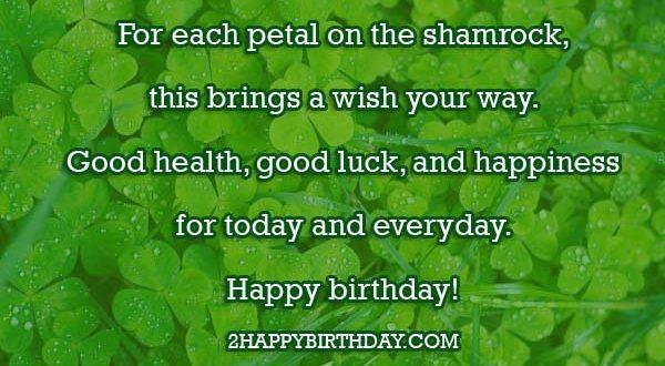 Irish Birthday Wishes Blessing
