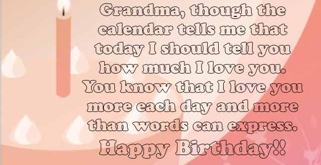 Happy Birthday Grandma Quotes Sweet #25+ Happy Birthday Grandma Wishes and Quotes   2HappyBirthday Happy Birthday Grandma Quotes