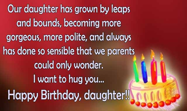 Happy Birthday Wish Daughter