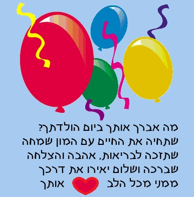 Happy Birthday Yom Huledet Sameach Wishes In Hebrew