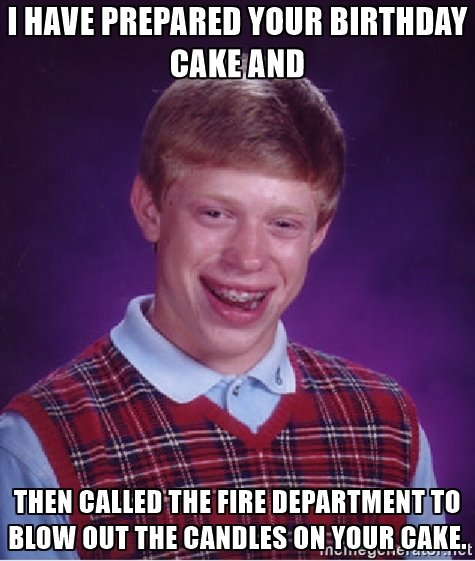 Birthday Cake Meme