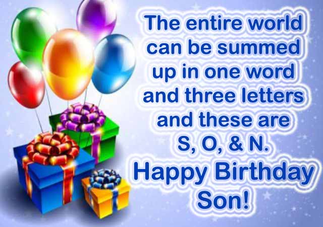 Happy Birthday Son Wishes From A Mom