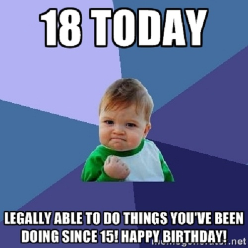 18th Happy Birthday Adult Meme