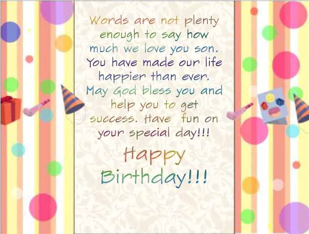 Beautiful Happy Birthday Son Quotes