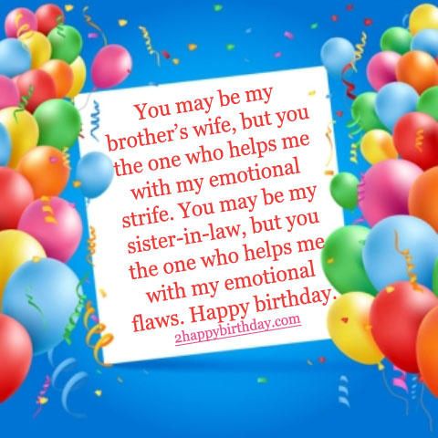 Top Birthday Wishes Greeting For Sister In Law 2HappyBirthday – Sister Birthday Greetings Message