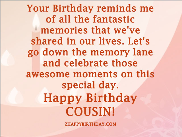Happy Birthday Cousin Image