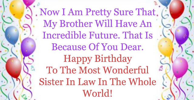 Top Birthday Wishes & Greeting For Sister In Law ...