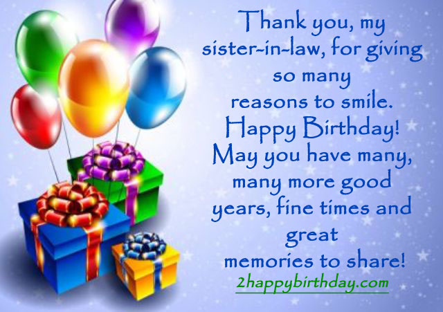Top Birthday Wishes Greeting For Sister In Law 2happybirthday