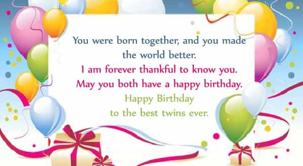 Happy Birthday Twins Wishes & Quotes - 2HappyBirthday