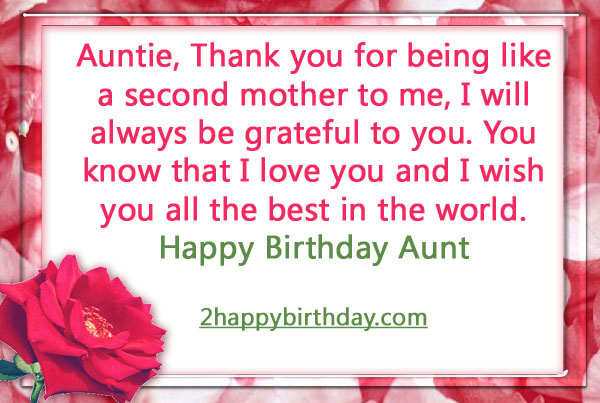 Happy Birthday Auntie Wishes Quotes 2happybirthday