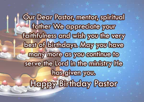 Happy Birthday Pastor Wishes & Quotes
