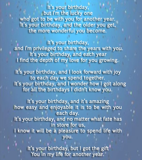 Happy Birthday Poems For Him Cute Poetry For Boyfriend Or: Happy Birthday Poems For Friends & Family