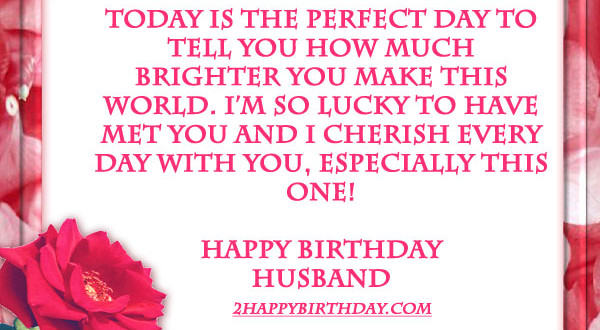 Happy Birthday Wishes Quotes For Husband 2happybirthday