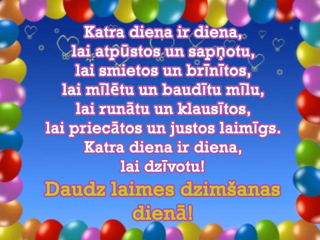 apsveikumi dzimsanas diena
