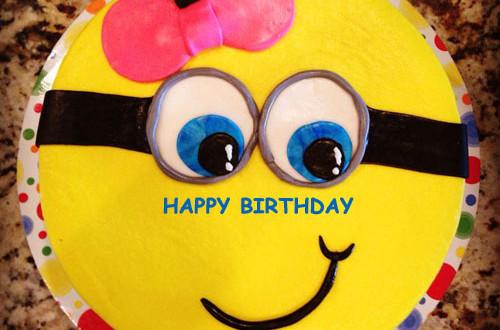 Birthday Cake Images Minions ~ Minions birthday cake image with name edit happybirthday