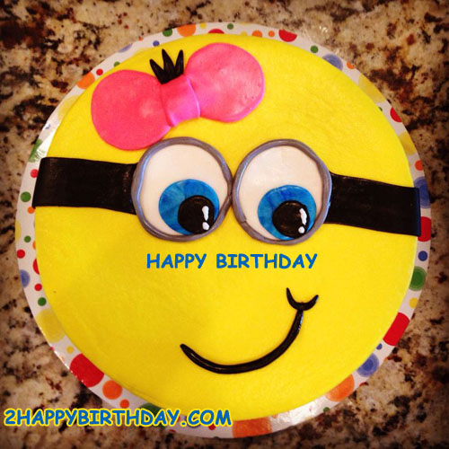 Minions Birthday Cake Image With Name Edit