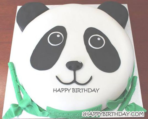 Excellent Happy Birthday Panda Cake With Name 2Happybirthday Funny Birthday Cards Online Aboleapandamsfinfo