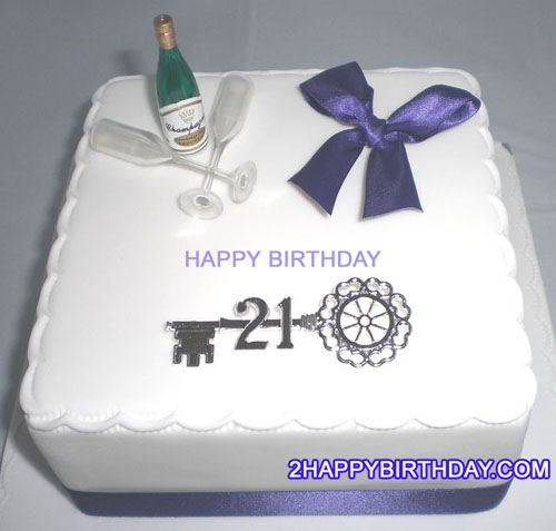 21st Birthday Cake For Boys With Name 2HappyBirthday