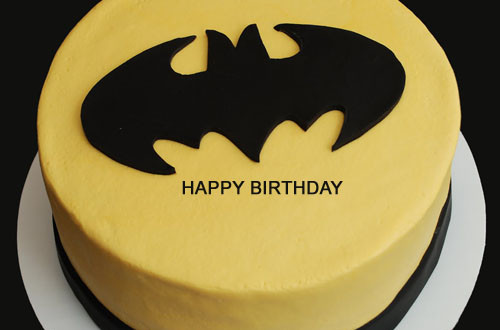 Write Name On Batman Themed Birthday Cake 2HappyBirthday