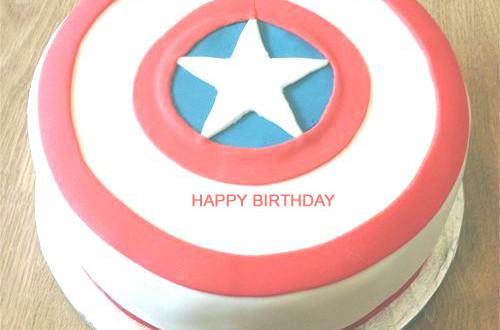 Captain America Birthday Cake With Name 2HappyBirthday