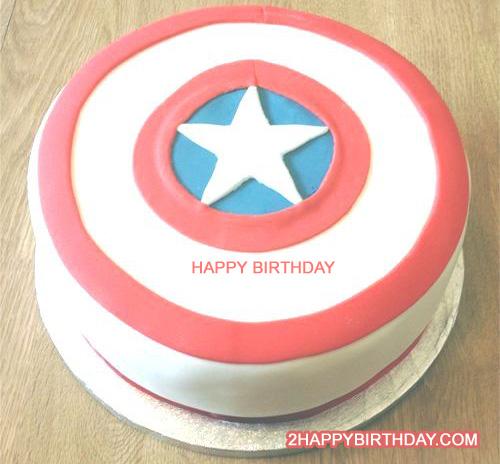 Captain America First Birthday Cake